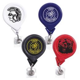 Round Retractable Badge Reel - Solid Color