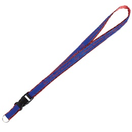 Metallic Edge Lanyard with Detachable Buckle and Split Ring