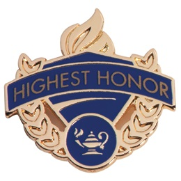 Blue/Gold Award Pin - Highest Honor