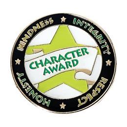 Character Award Pin - Yellow Star/Words