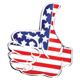Red, White, and Blue Thumbs up Pin