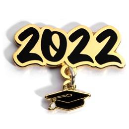 Grad Cap Dangler Award Pin - Class of 2022