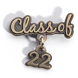Class of 2022 Metallic Dangler  Pin
