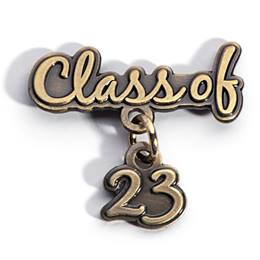 Class of 2023 Metallic Dangler  Pin