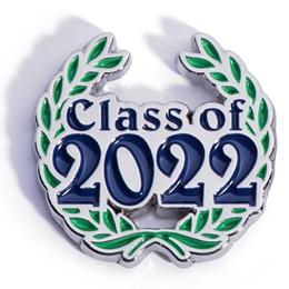 Class of 2022 Award Pin - Laurel Leaves
