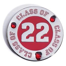 Class of 2022 Award Pin - Red Rhinestones