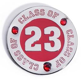 Class of 2023 Award Pin - Red Rhinestones