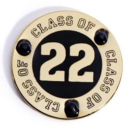 Class of 2022 Award Pin - Black Rhinestones