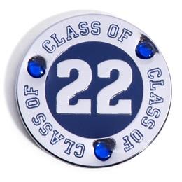 Class of 2022 Award Pin - Blue Rhinestones