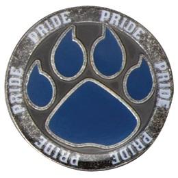 Paw Pride Lapel Pin - Blue Paw
