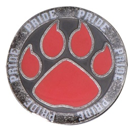 Paw Pride Lapel Pin - Red Paw