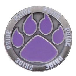 Paw Pride Lapel Pin - Purple Paw