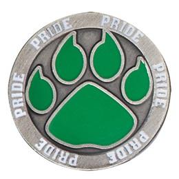 Paw Pride Lapel Pin - Green Paw