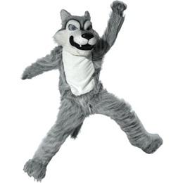 Gray Wolf Mascot Costume - Quick Ship