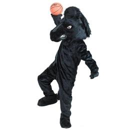 Black Stallion Mascot Costume