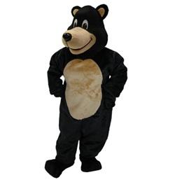 Jolly Black Bear Mascot Costume