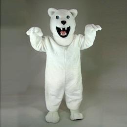 Fierce Polar Bear Mascot Costume
