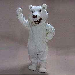 Mean Polar Bear Mascot Costume
