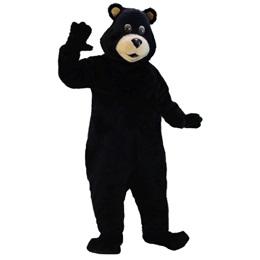 Friendly Black Bear Mascot Costume