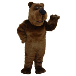 Cartoon Grizzly Bear Mascot Costume