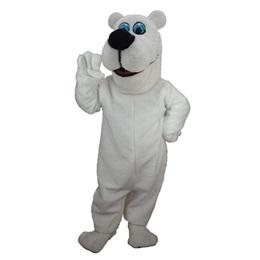 Cartoon Polar Bear Mascot Costume
