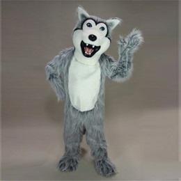 Gray Husky Mascot Costume