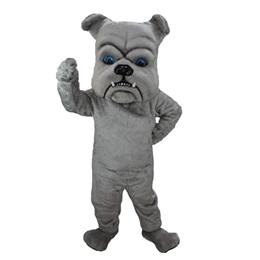 Dark Gray Bulldog Mascot Costume