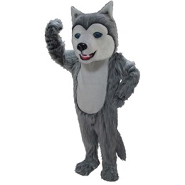Happy Husky Mascot Costume
