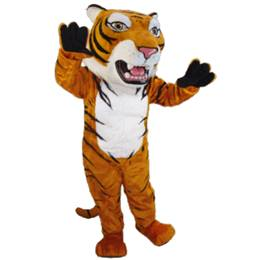 Toothy Tiger Mascot Costume