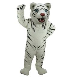 Black and White Tiger Mascot Costume