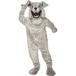 Gray Bulldog Mascot Costume