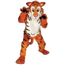 Friendly Tiger Mascot Costume