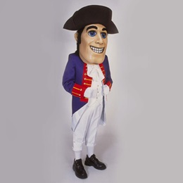 Happy Patriot Mascot Costume