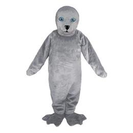 Gray Seal Mascot Costume