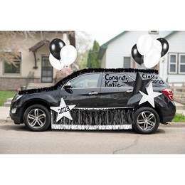 Car Decoration Kit - Black/White