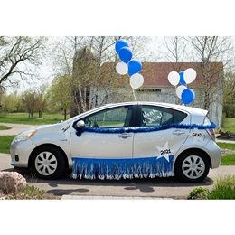 Car Decoration Kit - Blue/White