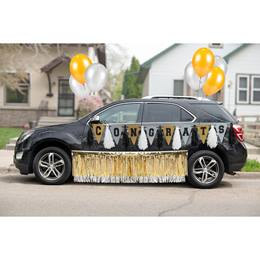 Graduation Car Decoration Kit - Black/Silver/Gold