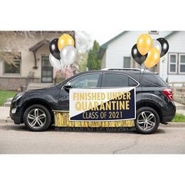 Graduation Car Decoration Kit - Finished Under Quarantine
