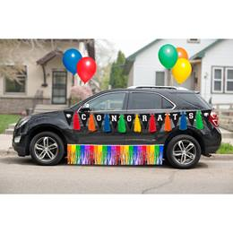 Graduation Car Decoration Kit - Rainbow