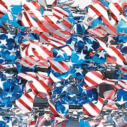 "Red/White/Blue Metallic Floral Sheeting - 36"" x 30'"