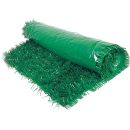 "Vinyl Green Grass Mat - 36"" x 36"""