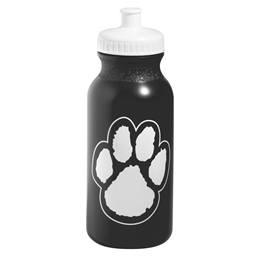 Water Bottle - Black Paw