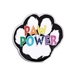 Paw Power Glitter Pin