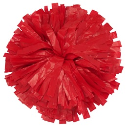 Plastic Solid Color Pom-Poms - 10 in