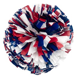 Plastic Three Color Mix Pom-Poms - 6 in