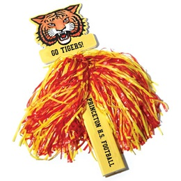 Custom Mascot Pom-Poms - Two Colors