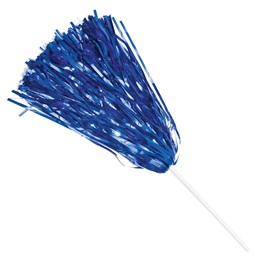 Metallic Spirit Pom - Royal Blue