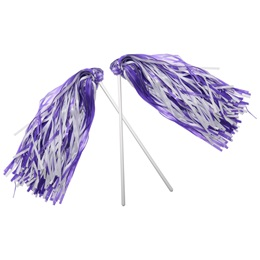 Light Purple and White Economy Pom Poms, 2/pkg