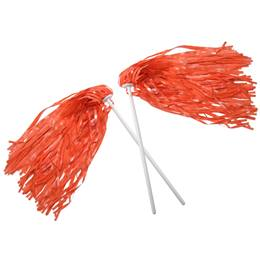 Orange Economy Pom Poms, 2/pkg