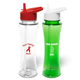17 oz. Tritan Curve Bottle with Flip Straw Lid